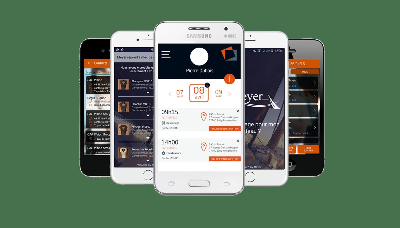 Applications mobiles et tablettes