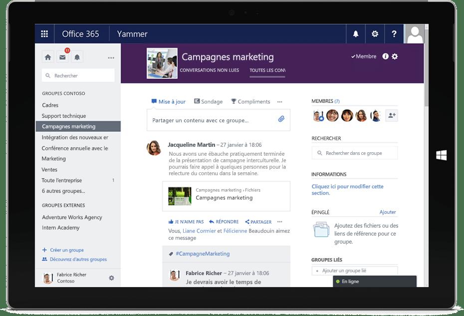 Yammer, le réseau social d'entreprise Microsoft