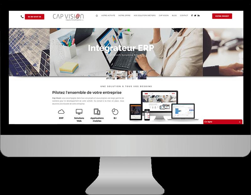 Création site institutionnel - Cap Vision