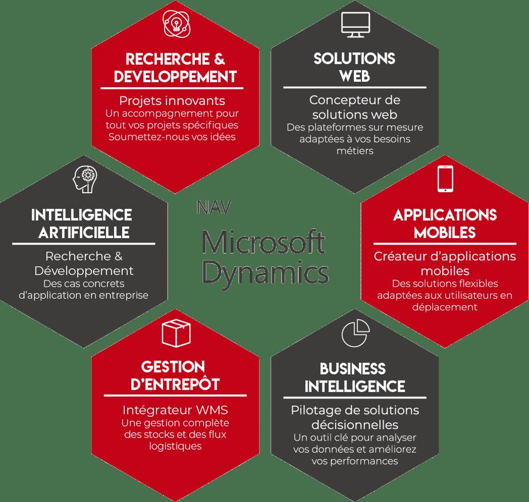 Microsoft Dynamics NAV (intelligence artificielle, recherche et développement, web, mobile)